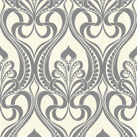 grandeco art nouveau damask pattern wallpaper art deco