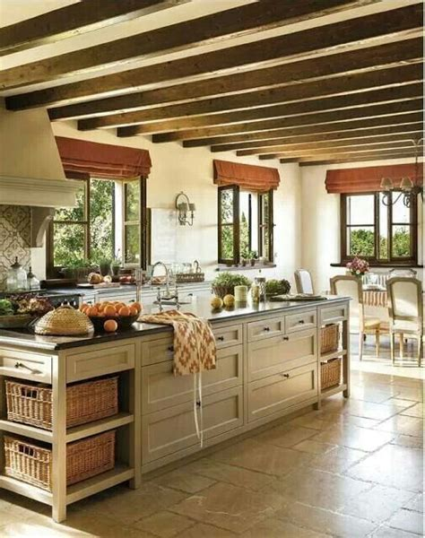 island for kitchens island and ceiling beams kitchen ideas