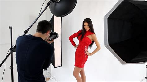 photographer shooting  fashion model  de stock