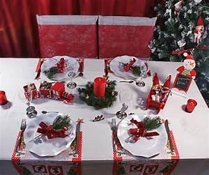 Table De Noel Traditionnelle : deco table noel rouge et blanc argent ~ Melissatoandfro.com Idées de Décoration