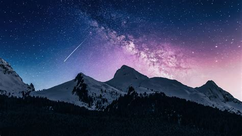 landscape mountains galaxy  iu desktop wallpapers