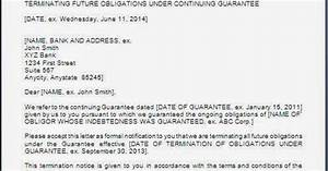 Notice Of Termination Letter Example Of Non Responsibility Letter