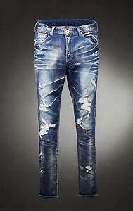 Mens Art Damage Destroyed Skinny-Jeans 62 | Fast Fashion Mens Clothes Online GUYLOOK.COM