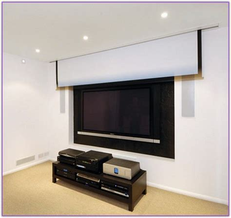 install projector screen  ceiling google search home