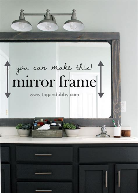 How To Make A Frame For A Bathroom Mirror by Diy Rustic Wood Mirror Frame Home Inspiration Bathroom