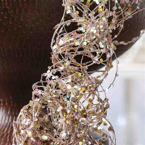 platinum glitter  sequin twisted wire garland