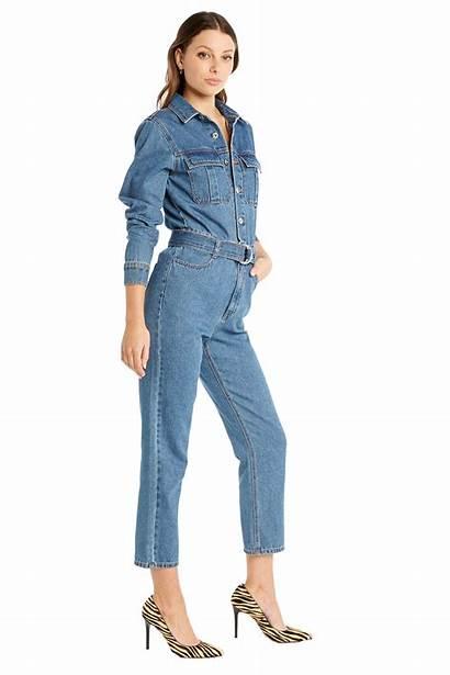 Jumpsuit Denim Classic Bardot Jumpsuits Clothing Playsuits