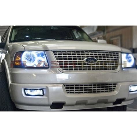ford expedition white halo headlight kit 2003 2006