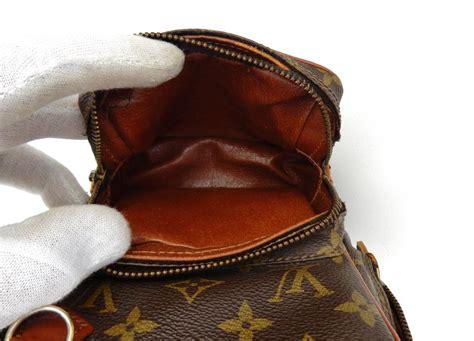 louis vuitton amazon vintage mini extra brown monogram canvas leather weekendtravel bag tradesy
