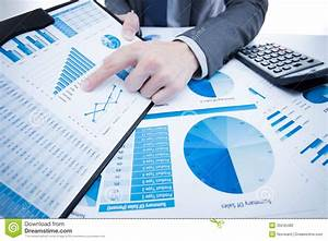 Man Hand With Business Report Stock Photo