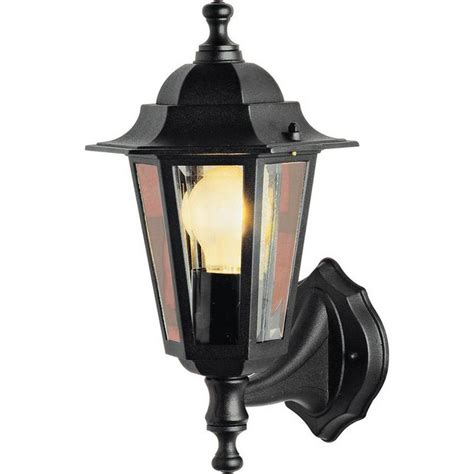buy home outdoor wall lantern black at argos co uk