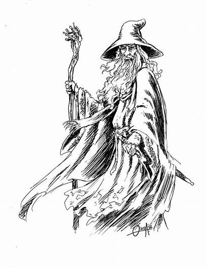 Gandalf Coloring Pages Heaven Stairway Drawings Forest