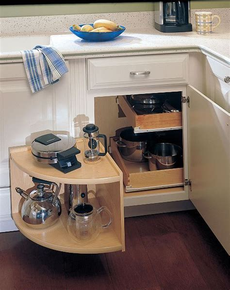 kitchen corner cabinet pull out shelves blind corner cabinet solutions diy woodworking projects 9216