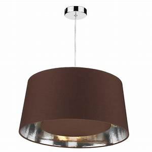 Bugle easy fit non electric chocolate brown ceiling light shade