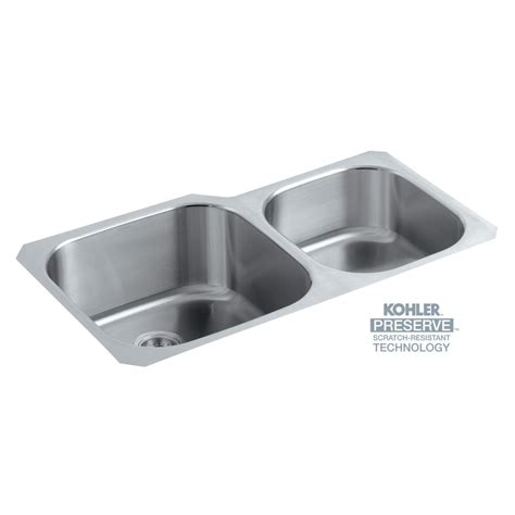 kohler stainless steel undermount kitchen sinks kohler undertone preserve undermount scratch resistant 9650