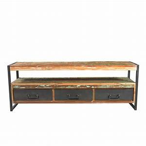 Lowboard Mit Schubladen : lowboard mit schubladen in bunt lackiert ~ Watch28wear.com Haus und Dekorationen