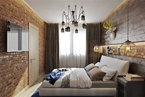 bold industrial meets rustic bedroom decor digsdigs
