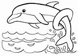 Dolphins Dolphin Coloring Raskrasil Printable Trained sketch template