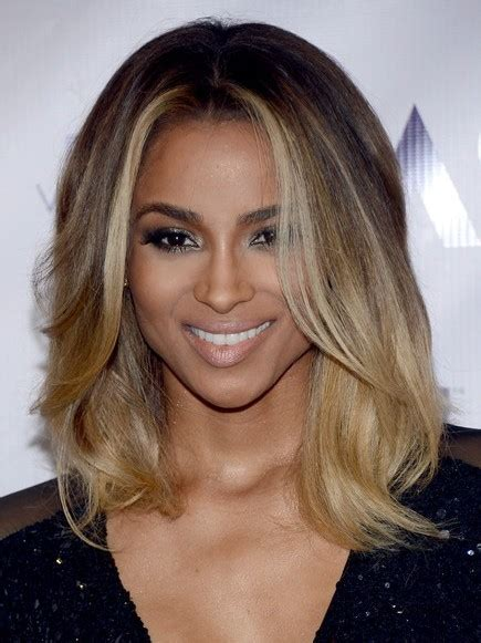 ciara ombre medium hairstyle  popular haircuts