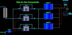 Industrial Compressed Air System Diagram Dwg Block For