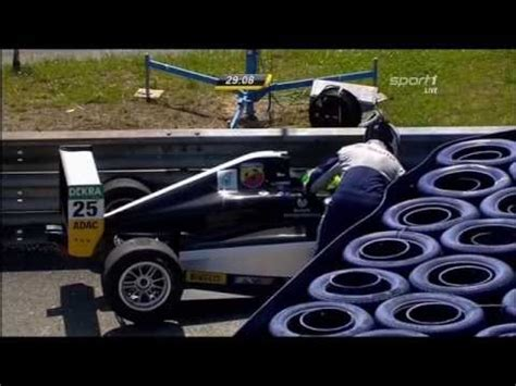 formula 4 crash adac formula 4 2015 red bull ring first crash of mick