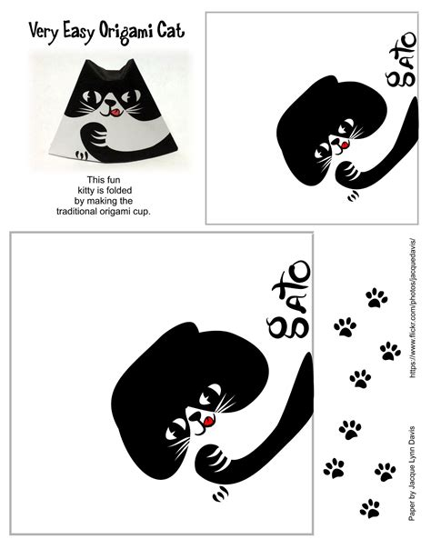 Cat Template Easy Origami Cat Template Free Printable Papercraft