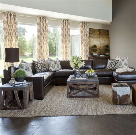 Brown Sectional Living Room Ideas by Best 25 Brown Decor Ideas On Living