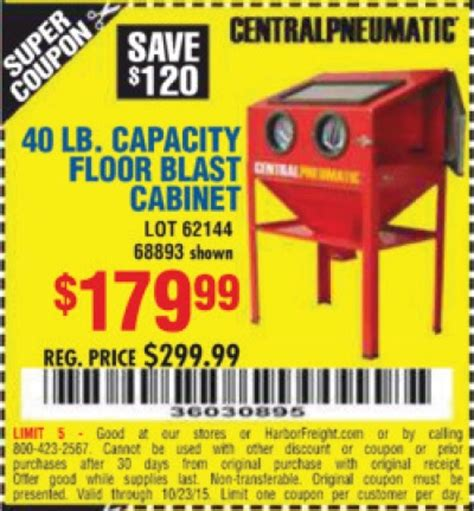 harbor freight 40 lb blast cabinet harbor freight tools coupon database free coupons 25