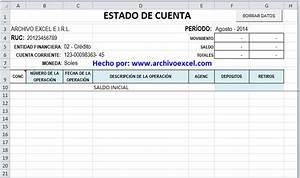 Plantilla de Conciliación Bancaria en excel Archivo Excel