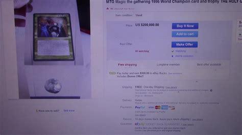 Mtg Magic The Gathering 1996 World Champion Card On Ebay