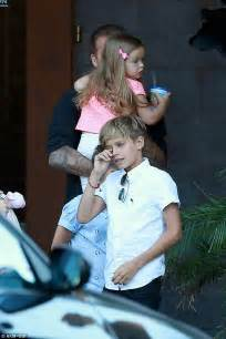 doting dad david beckham takes harper cruz  romeo