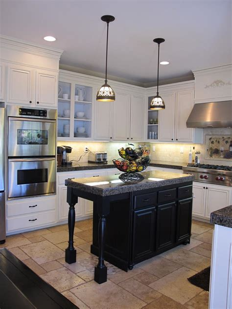 white kitchen cabinets black island painted kitchen cabinet ideas hgtv 1792