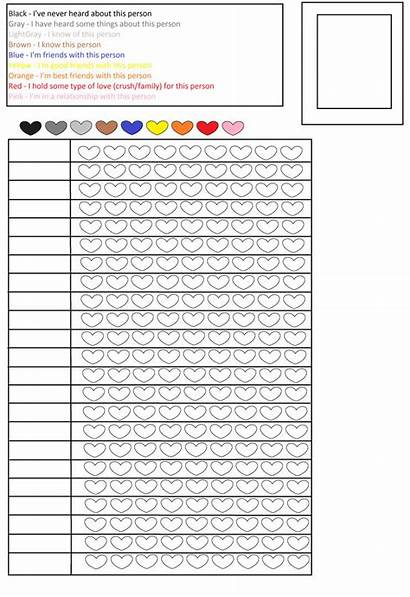 Chart Blank Pencil Colored Relationship Pencils Charts