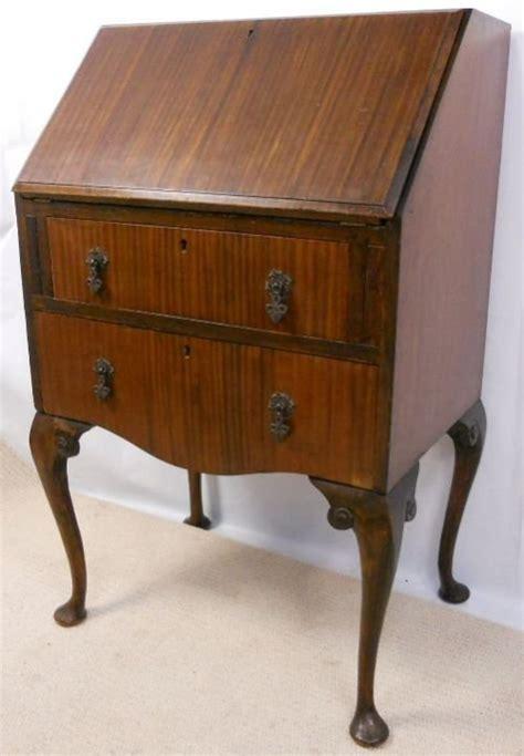 queen anne writing desk queen anne style mahogany writing bureau desk 158191