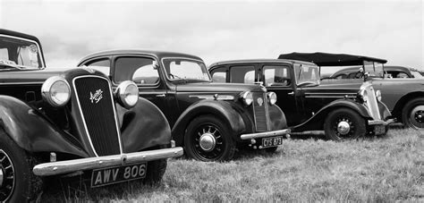 Vintage Cars In Black And White