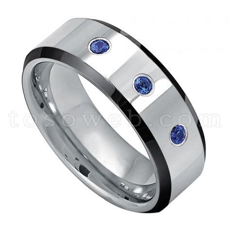 blue sapphire 6 15 ct 39 s 0 21ct blue sapphire gemstone 3 wedding band