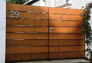 Portail Bois 4m : portail et portillon bois cadiou ~ Premium-room.com Idées de Décoration