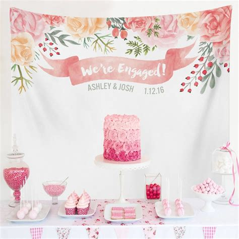 Custom Wedding Tapestries for Dessert Backdrops and Photo