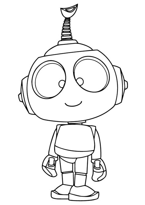 robot rob coloring page  printable coloring pages  kids