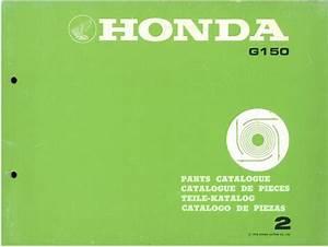 Honda Engine G150 Parts Manual - G 150