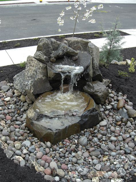 landscaping water fountains garden design with waterfall on pinterest small water