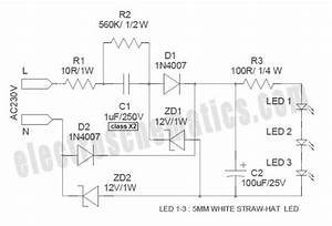 White Led Night Light Circuit