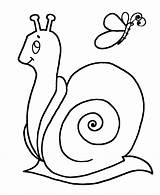Snail Coloring Simple Shapes Printable Popular sketch template