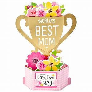 World's Best Mom Trophy Pop-Up Mother's Day Card ...