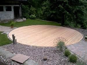 Pool Terrasse Selber Bauen : holzterrasse l rche wenns rund laufen soll ideen rund ums haus pinterest garten terrasse ~ Orissabook.com Haus und Dekorationen
