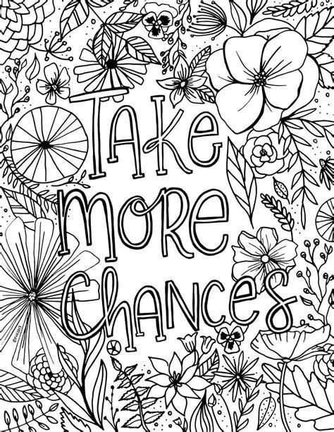 encouragement flower coloring page printable fox hazel