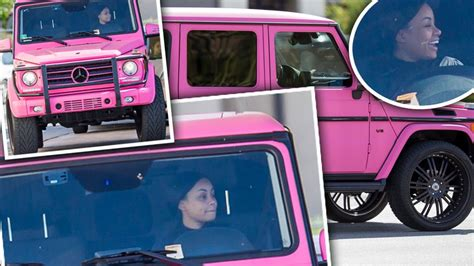 pink mercedes truck blac chyna puts kylie jenner drama behind her as she grabs