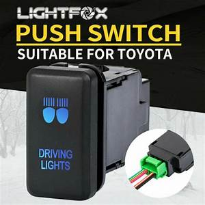 Led Driving Light Push Rocker Switch Suitable For Toyota