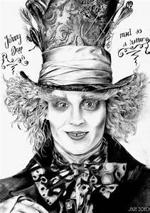 Alice in Wonderland Mad Hatter Hat Drawing | Johnny Depp ...