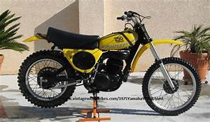 1975 Yamaha Yz250  The First Use Monoshock Suspension And